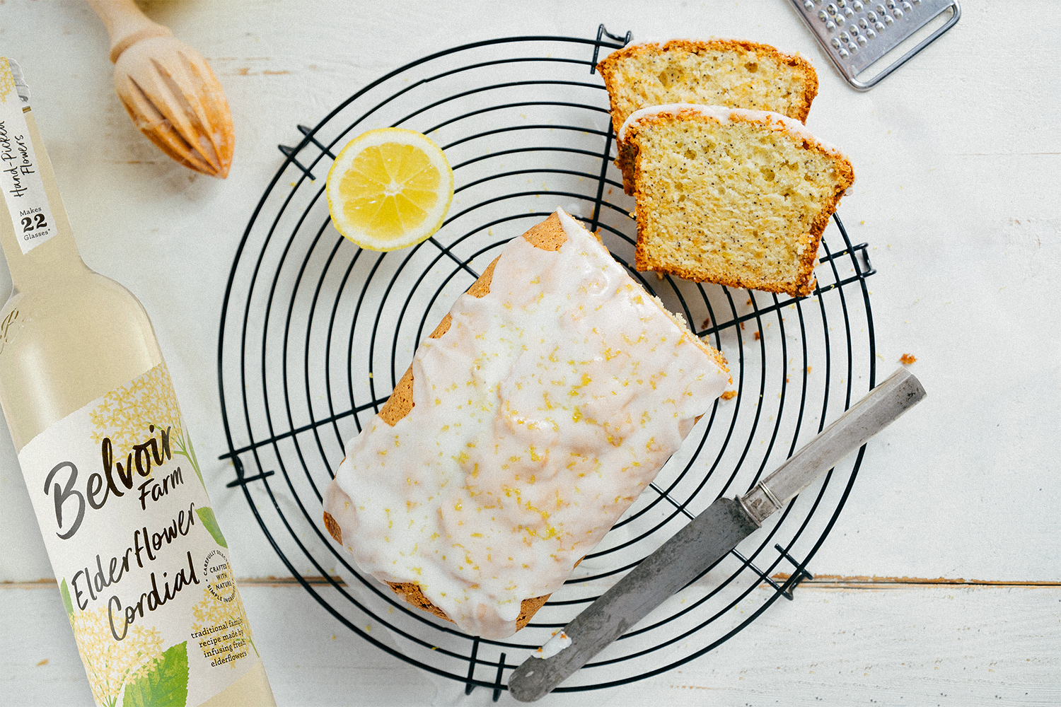 Elderflower & Lemon Drizzle Cake