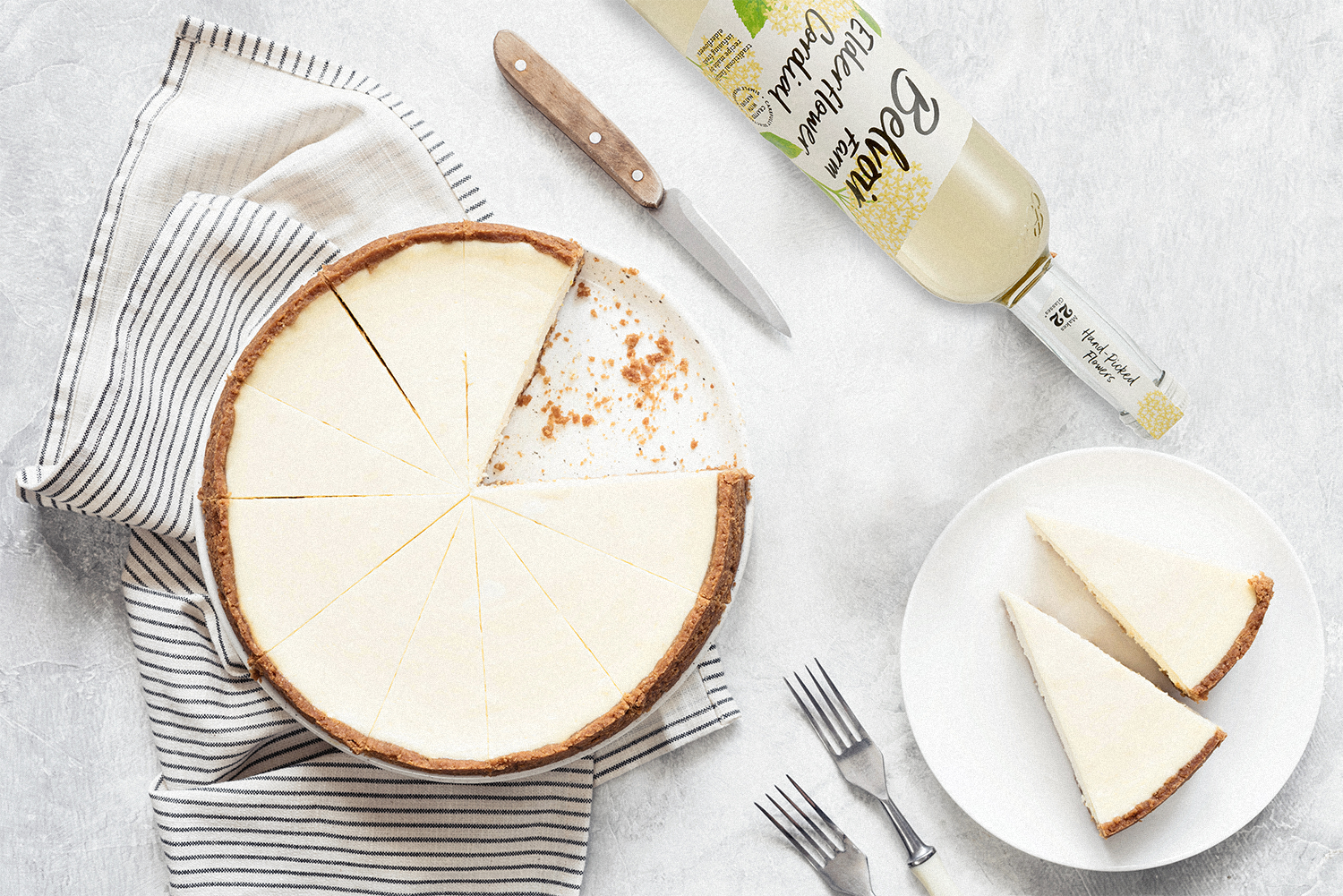 Ginger & Elderflower Cheesecake